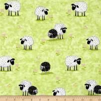 Susybee Kiwi Lamb Lal in Meadow Fabric by The Yard