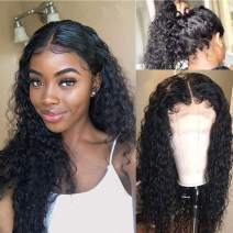 Human Hair Lace Front Wigs 360 Lace Frontal Wigs with Baby Hair Wigs Pre Plucked Hairline Unprocessed Virgin Brazilian Remy Short Human Hair Wet and Wavy Human Hair Glueless Lace Wigs