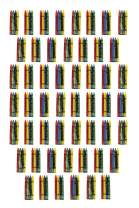 Craytastic! 208 Bulk Premium Crayons (52 Sets of 4-Packs) Each Pack Individually Wrapped in Cellophane (Red, Green, Blue, Yellow) Safety Tested Compliant with ASTM D-4236