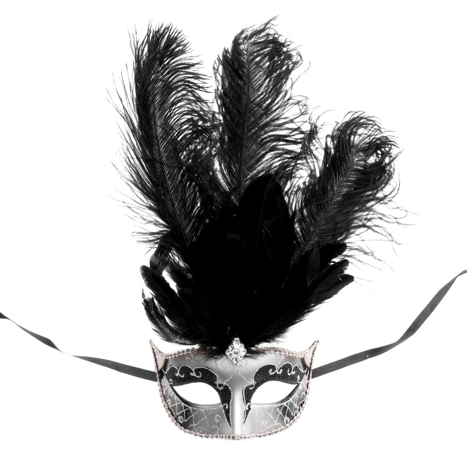 ILOVEMASKS Roman Warrior Silver Masquerade Mask Couple