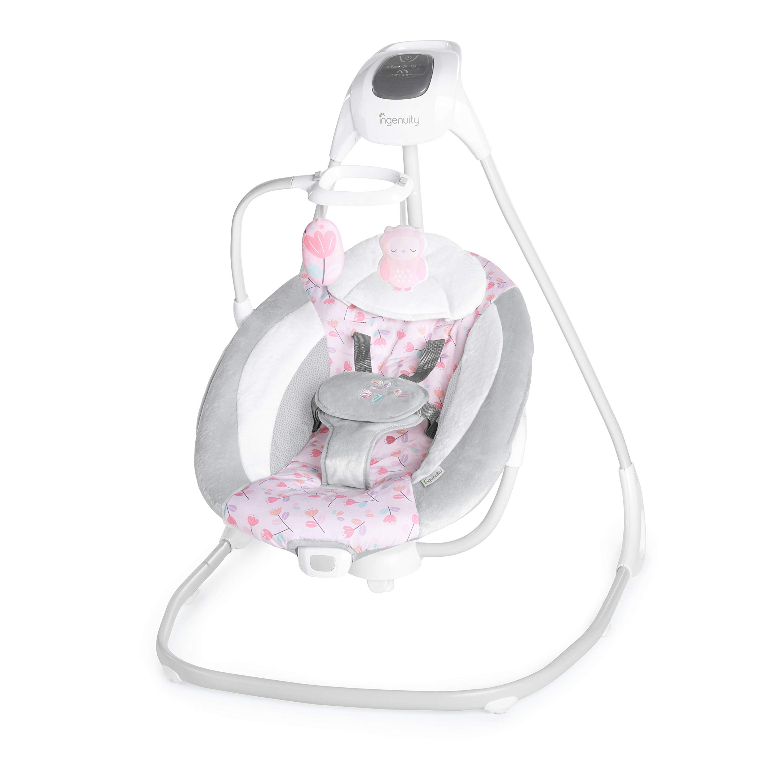 Ingenuity SimpleComfort Cradling Swing - Cassidy - Plug-in Swing with Soothing Vibrations