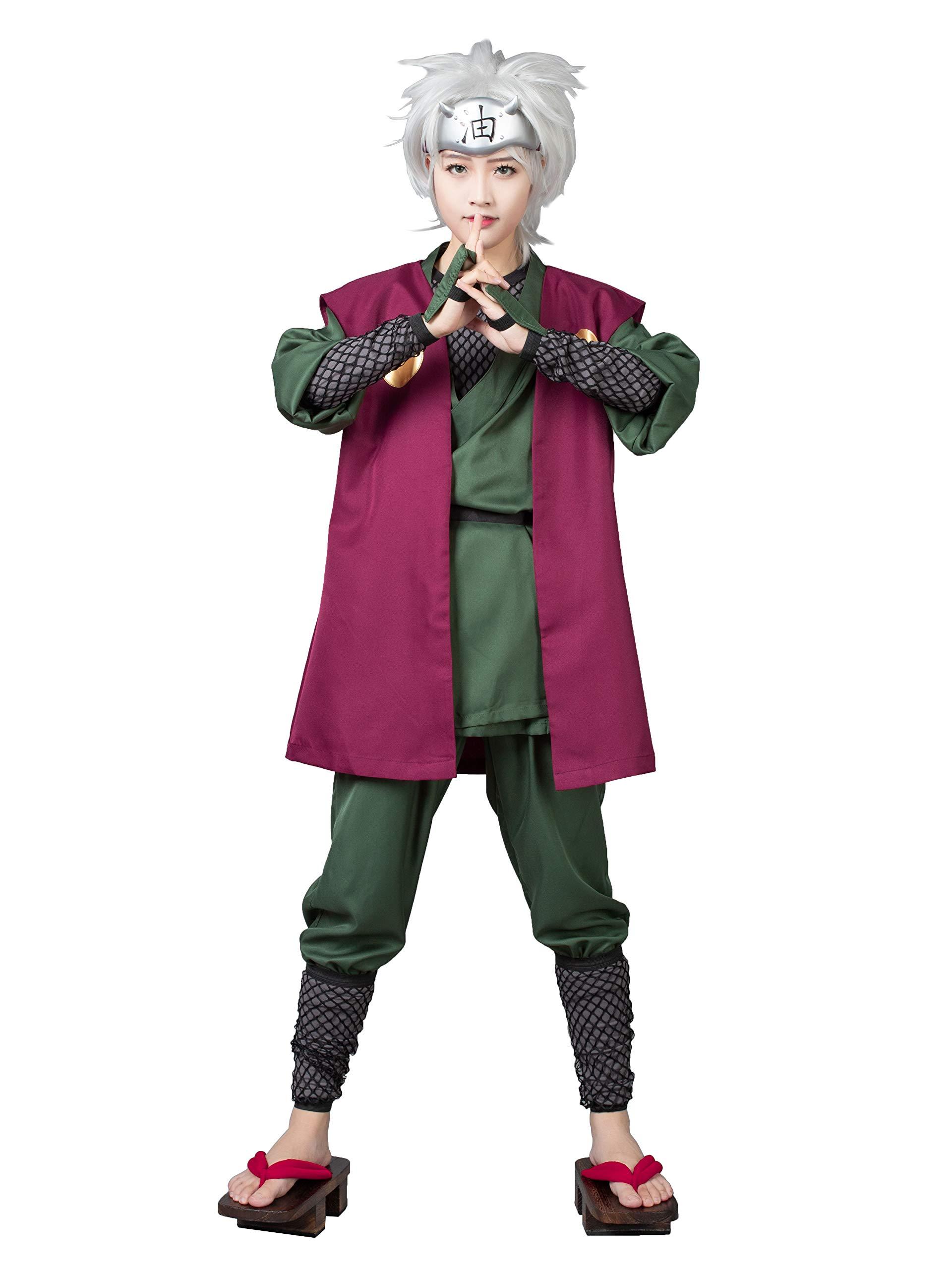 CosFantasy Japanese Anime Ninja Jiraiya Cosplay Costume mp000314