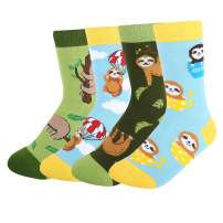 HAPPYPOP Boys Animal Shark Food Dinosuar Space Socks, Crazy Gift Socks for Kids
