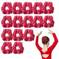 Oaoleer Red Velvet Scrunchies For Hair,15 Pack Big Elastics Hair Ties Scrunchy Hair Band Hair Accessories For Women,Girl