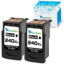 InkWorld Remanufactured 240XL Ink Cartridge Replacement for Canon PG-240 XL Black to Use with Pixma TS5120 MG3620 MG3520 MX472 MG3220 MX452 MX532 MX512 MG2120 MX432 MG3222 MG3122 MG2220 Printer 2-Pack