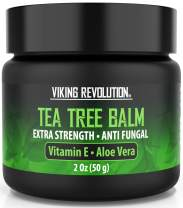 Tea Tree Oil Antifungal Cream- Super Balm Athletes Foot Cream- Perfect Treatment for Eczema, Jock Itch, Ringworm, and Nail Fungus Infections- Also Soothes Itchy, Scaly and Cracked Skin