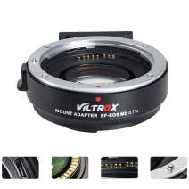 VILTROX EF-EOS M2 Lens Adapter 0.71x Speed Booster for Canon EF Lens to EOS EF-M Mirrorless Camera M5 M6 M6 II M200 M50 II M10 M50 M100 AF Auto Focus Reducer