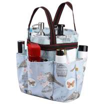 Shower Caddy Tote Bag, Portable Shower Tote Hanging Bath Organizer Bag with 7 compartments, Quick Dry Bathroom Organizer Bag for College Dorm, Travel, Gym and Camping