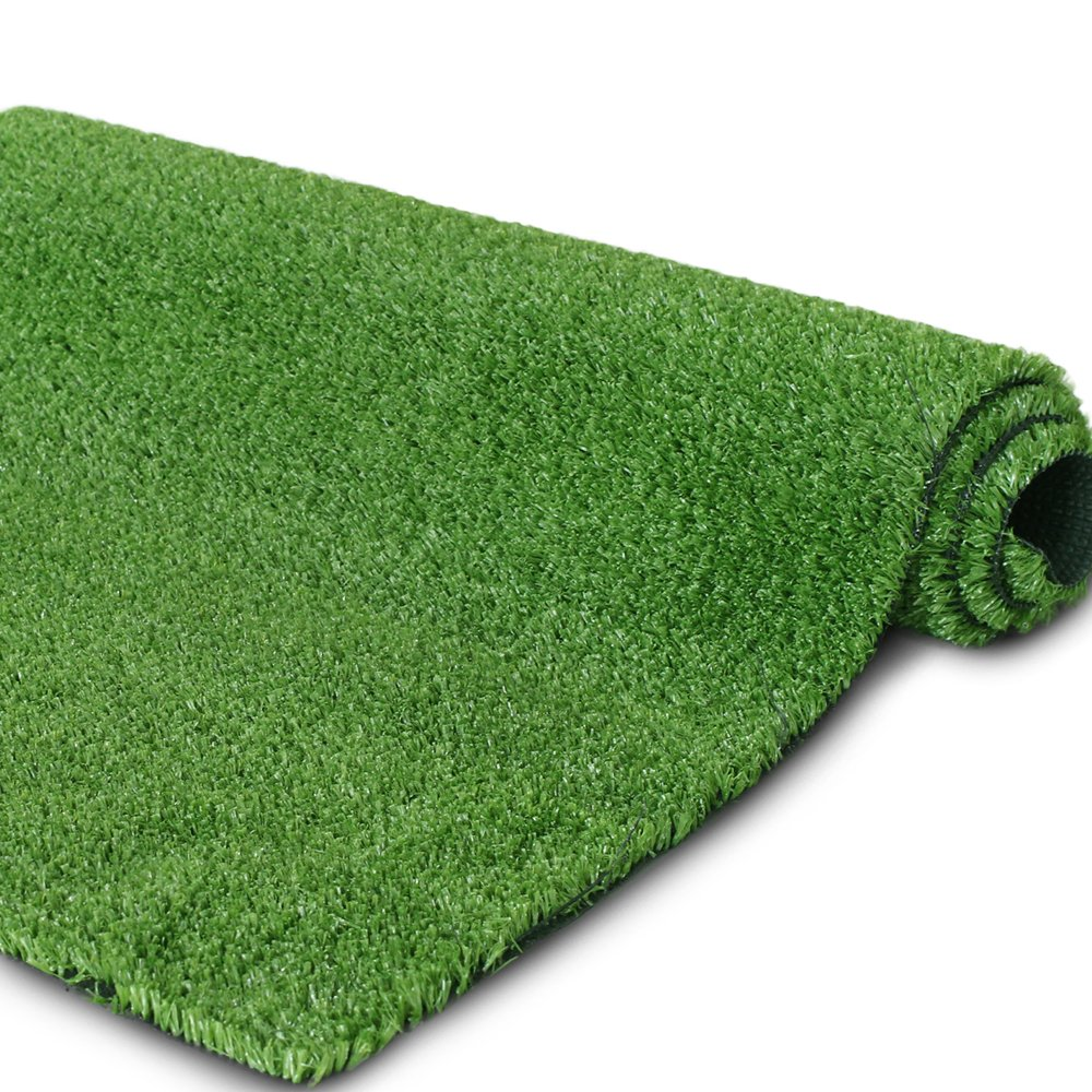 Synthetic Artificial Grass Turf for Garden Backyard Patio Balcony,Drainage Holes & Rubber Backing, Indoor Outdoor Faux Grass Astro Rug Carpet,DIY Decorations for Fence Backdrop (9 FTX 20 FT)