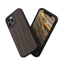 RhinoShield Case Compatible with [iPhone 12/12 Pro] | SolidSuit - Shock Absorbent Slim Design Protective Cover with Premium Matte Finish 3.5M / 11ft Drop Protection - Black Oak - Black