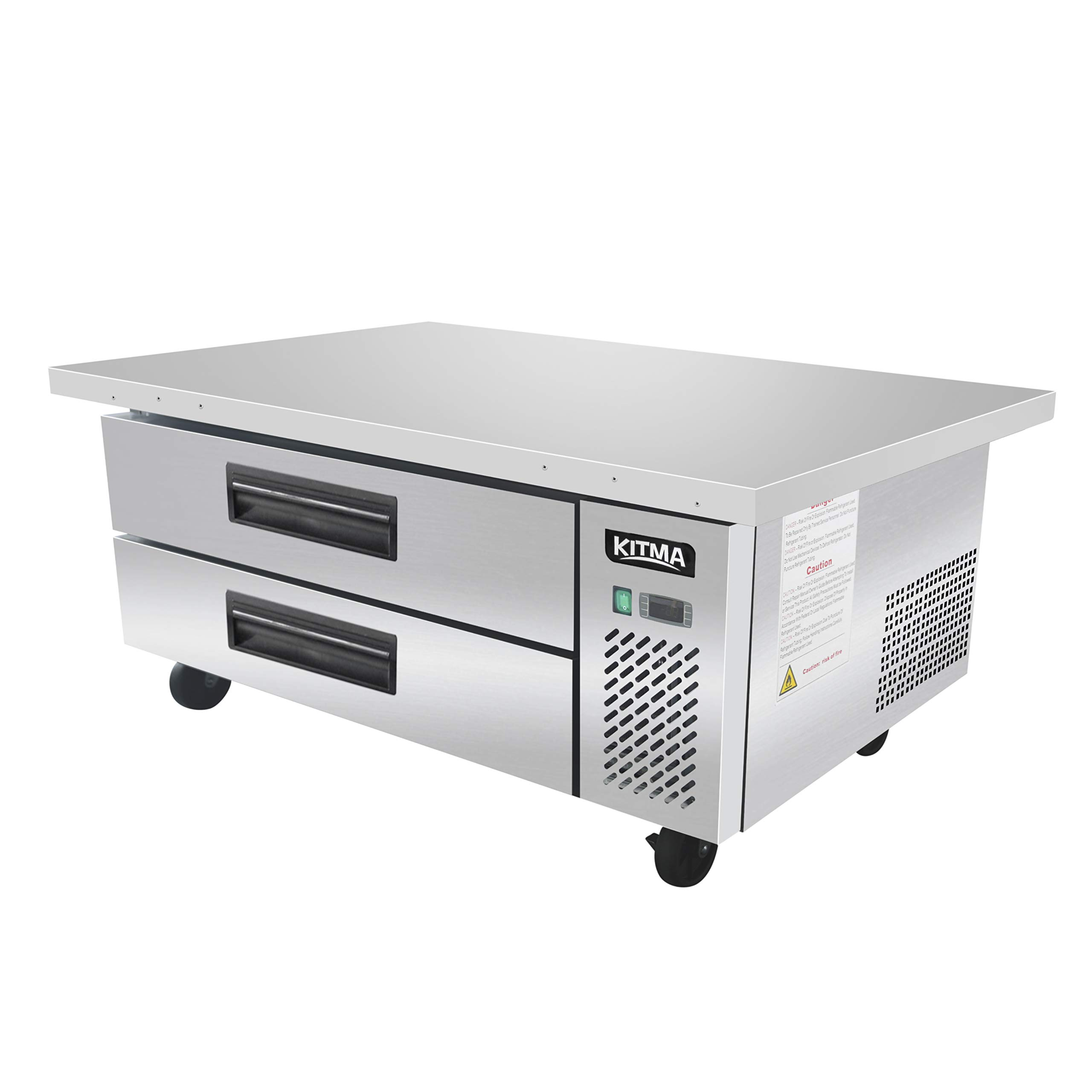 Restaurant Equipment Stand Drawered Refrigerator kitchen equipment with Drawers KITMA Stainless Steel Commercial Counter 10.4 Cu.Ft 33℉-38℉ 60 Inches Refrigerated Chef Base