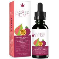 Hemp Oil - 1000 MG - Passion Fruit - 100% Organic Hemp Extract Drops - Natural Pain Stress Anxiety Relief & Improves Overall Health - Grown & Made in The USA…
