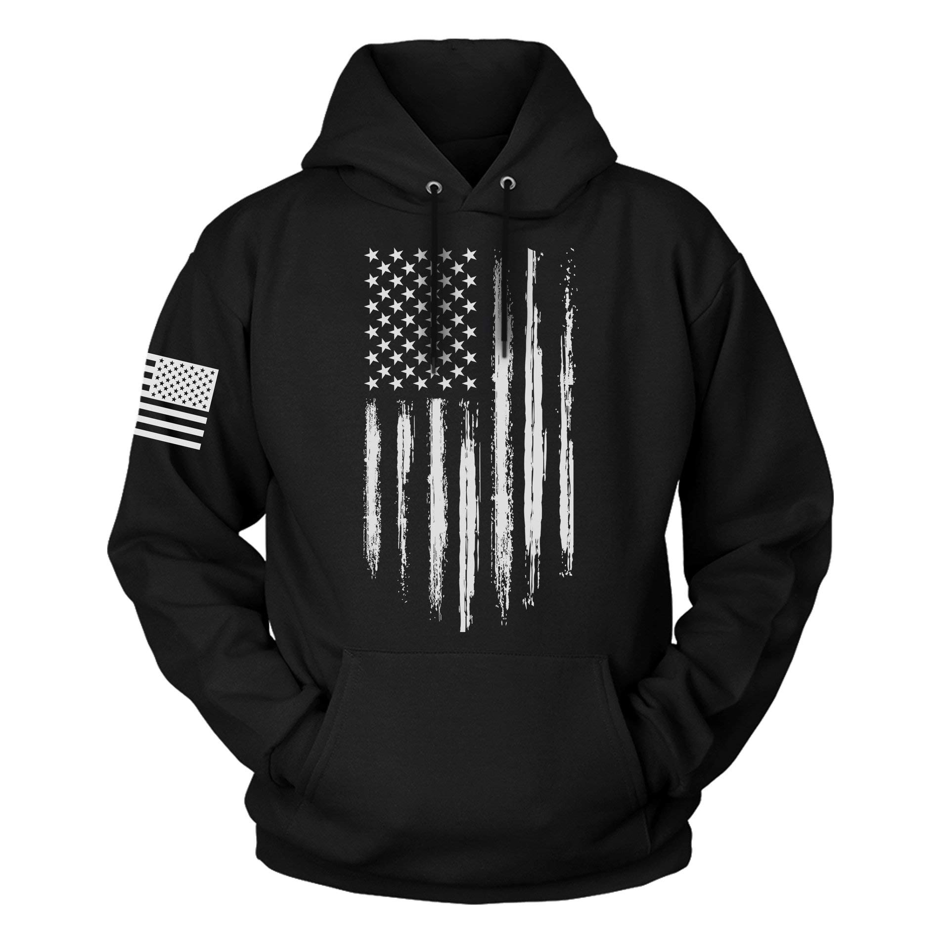 The Fighting Forces USA Sweatshirt Hoodie for Men or Women, American Flag Patriotic Jacket Sweater