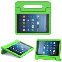 MoKo Case for All-New Amazon Fire HD 8 Tablet (6th/7th/8th Generation, 2016/2017/2018 Release) Kids Shock Proof Convertible Handle Light Weight Protective Stand Cover Case for Fire HD 8,Green