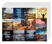 NewEights Encouraging Religious Stickers Trust in God's Protection and Renewal (5 Sheet) - Total 60 pcs (5 x 12pcs) Individual Small Size 2.1 x 2 Inches, Assorted Mega Pack of Inspirational Stickers