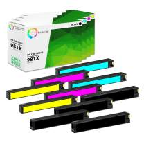 TCT Compatible Ink Cartridge Replacement for HP 981X High Yield Works with HP PageWide Enterprise Color 556dn, MFP 586z Printers (Black L0R12A, Cyan L0R09A, Magenta L0R10A, Yellow L0R11A) - 10 Pack
