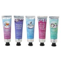Simple Pleasures Scented Hand Cream Collection Gift Set Of 5 Mini Hand Lotions with Sweet Seasonal Fragrances In a Giftable Winter Snowflake Window Box For Home Or Travel by Tri-Coastal Design