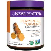New Chapter Organic Turmeric Powder - Fermented Turmeric Booster Powder for Brain, Heart and Inflammation Support – 45 Servings