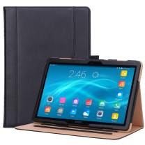"Procase Lenovo Tab P10 / M10 10.1 Case, Stand Folio Case Cover for Lenovo Tab P10 TB-X705F TB-X705L / M10 TB-X605F TB-X505F 10.1"" Tablet, with Multiple Viewing Angles, Document Card Pocket -Black"