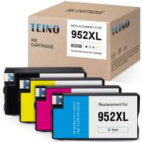 TEINO Remanufactured Ink Cartridges Replacement for HP 952XL 952 XL use with HP OfficeJet Pro 8710 8720 8715 8740 8210 7720 8702 8730 8216 8725 8200 (Black, Cyan, Magenta, Yellow, 4-Pack)