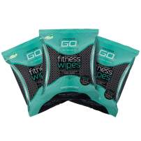 HyperGo: Full Body Fitness Wipes - Body Cleansing Wipes - Clean Off Odor and Sweat- Refresh and Moisturize Skin - All Natural Ingredients - Mint Scent, Pack of 3
