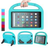LEDNICEKER Case for All-New Fire 7 Tablet (9th Generation - 2019 Release) - Kids/Toddler Shockproof Portable Handle Protective Stand Case for for Amazon Fire 7 2019 & 2017 (7 Inch Display), Turquoise