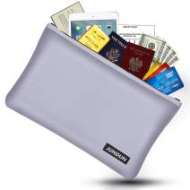 "JUNDUN Fireproof Money Bag, 10.6""x6.7"" Fireproof and Waterproof Cash Bag with Zipper Closure,Fireproof Safe Storage Envelope for Document,Passport,Jewelry"