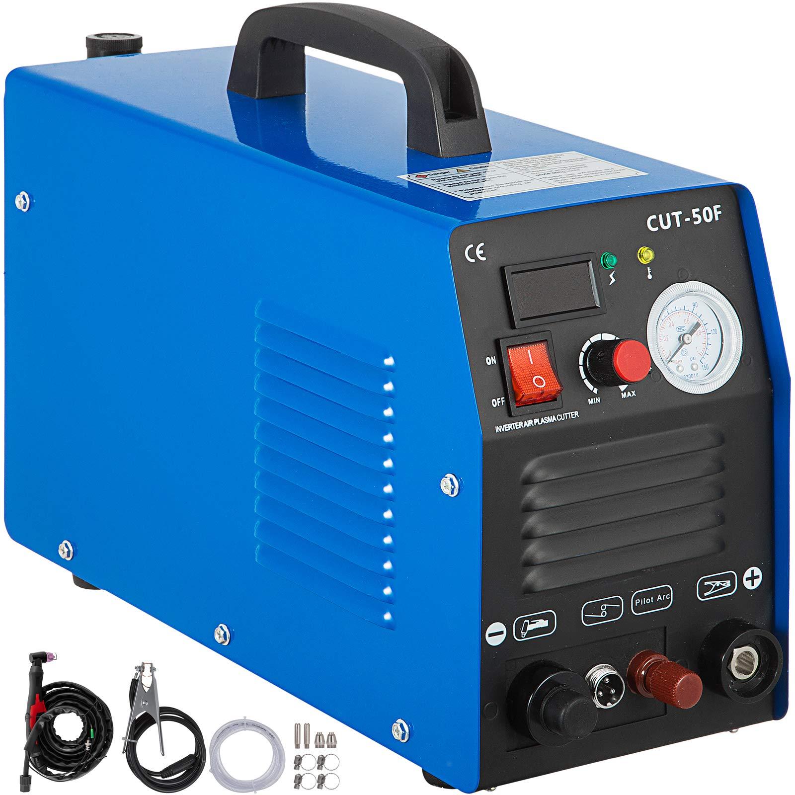 Mophorn 50 Amp Plasma Cutter Non-Touch Pilot Arc Dual Voltage 110 220V Plasma Cutting Machine 14mm(1/2 Inch) Cutting Thickness Portable Plasma Welder IGBT Inverter Digital Plasma Welding Machine