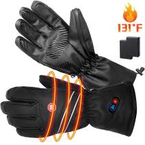 RTDEP Heated Winter Gloves for Men&Women, Rechargeable Battery Heated Gloves Waterproof Windproof Winter Thermal Gloves Hands Fingers Keep Warmer Driving Cycling Skiing Riding