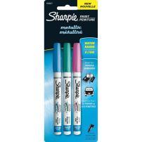 Sharpie Extra-Fine Metallic Paint Pen, Pink/Blue/Green (1783277)