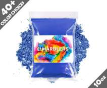 Marblers Powder Colorant 10oz (283g) [Gentle Blue] | Pearlescent Pigment | Tint | Pure Mica Powder for Resin | Dye | Non-Toxic | Great for Epoxy, Soap, Nail Polish, Cosmetics and Bath Bombs