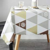 LOHASCASA Vinyl Oilcloth Tablecloth Small Oblong Waterproof Spillproof Wipeable PVC Heavy Duty Plastic Tablecloths Weights for Summer Outdoor Rv Picnic Table Cloth - 6 ft 54 x 72 Inch