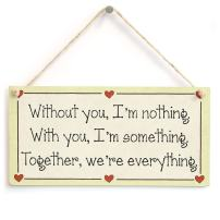 Meijiafei Without You, I'm Nothing. with You, I'm Something. Together, We're Everything Gift Sign
