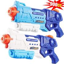 Lantch Water Gun for Kids, 2 Pack 900CC Water Super Gun Beach Swimming Pool Water Party Toys