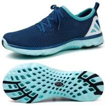 STQ Womens Lace-Up Water Shoes | Beach Swim Pool Aqua Sneakers