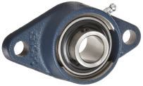 SKF FYTB 30 TF Ball Bearing Flange Unit, 2 Bolts, Setscrew Locking, Regreasable, Contact Seal, Cast Iron, Metric, 30mm Bore, 90.5mm Bolt Hole Spacing Width