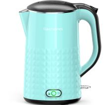 Elechomes 1.7L Electric Kettle with Smart Keep Warm Function, Stainless Steel Interior, BPA-Free Cool Touch Exterior and Vacuum Layer, Blue