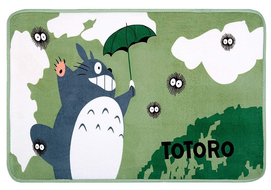 Super Soft Memory Foam Bath Mat Super Cozy Coral Velvet Bathroom Rugs Cute Totoro Design Door Mat Non Slip Absorbent Kitchen Rug (23.62x35.43 Inch)