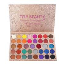 Top Beauty Makeup Eyeshadow Palette Metallic 39 Colors Blendable Professional Highly Pigmented Matte and Shimmer Colorful Eye Shadow Powder Nudes Warm Natural Bronze Neutral Smoky Cosmetic Eye Shadows