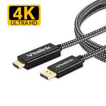 Veelink DisplayPort to HDMI Cable 6ft 4K@60Hz UHD DP to HDMI Cable for Projector HDTV Monitor Desktop NVIDIA