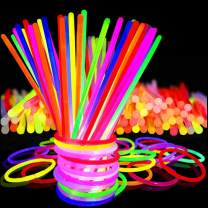 """Max Fun Glow Sticks Bulk Party Favors 100 Pack - 8"""" in The Dark Party Supplies Light Sticks, Glow Necklaces Bracelets Kids (100 Pack)"""