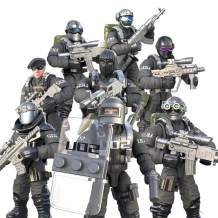 HOCHE 8pcs/Set Military Army Weapons Accessories Building Block, Seal Commando Soldiers Mini Toys Action Figure Set Gift for Kids
