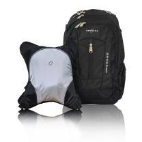 Bern Diaper Backpack, Shoulder Baby Bag, With Food Cooler, Clip to Stroller (Black/Silver Gray)