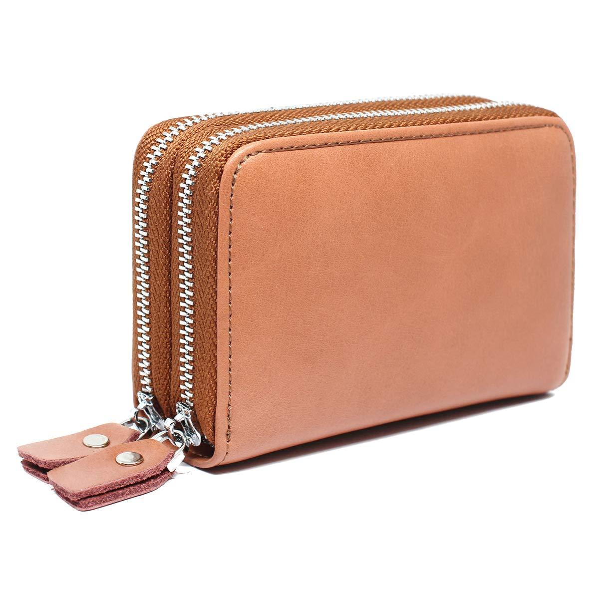 imeetu Women/Men RFID Credit Card Holder, Leather Card Wallet Case Purse