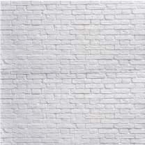 SJOLOON White Brick Wall Backdrop White Brick Photo Backdrop Thin Vinyl Photography Backdrop Background Studio Prop 10931 (10x10FT)