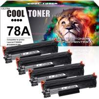Cool Toner Compatible Toner Cartridge Replacement for HP 78A CE278A Toner HP Laserjet P1606dn 1606dn HP Laserjet M1536dnf 1536dnf MFP HP Laserjet P1566 P1560 Toner Cartridge Printer Ink(Black,4-Pack)