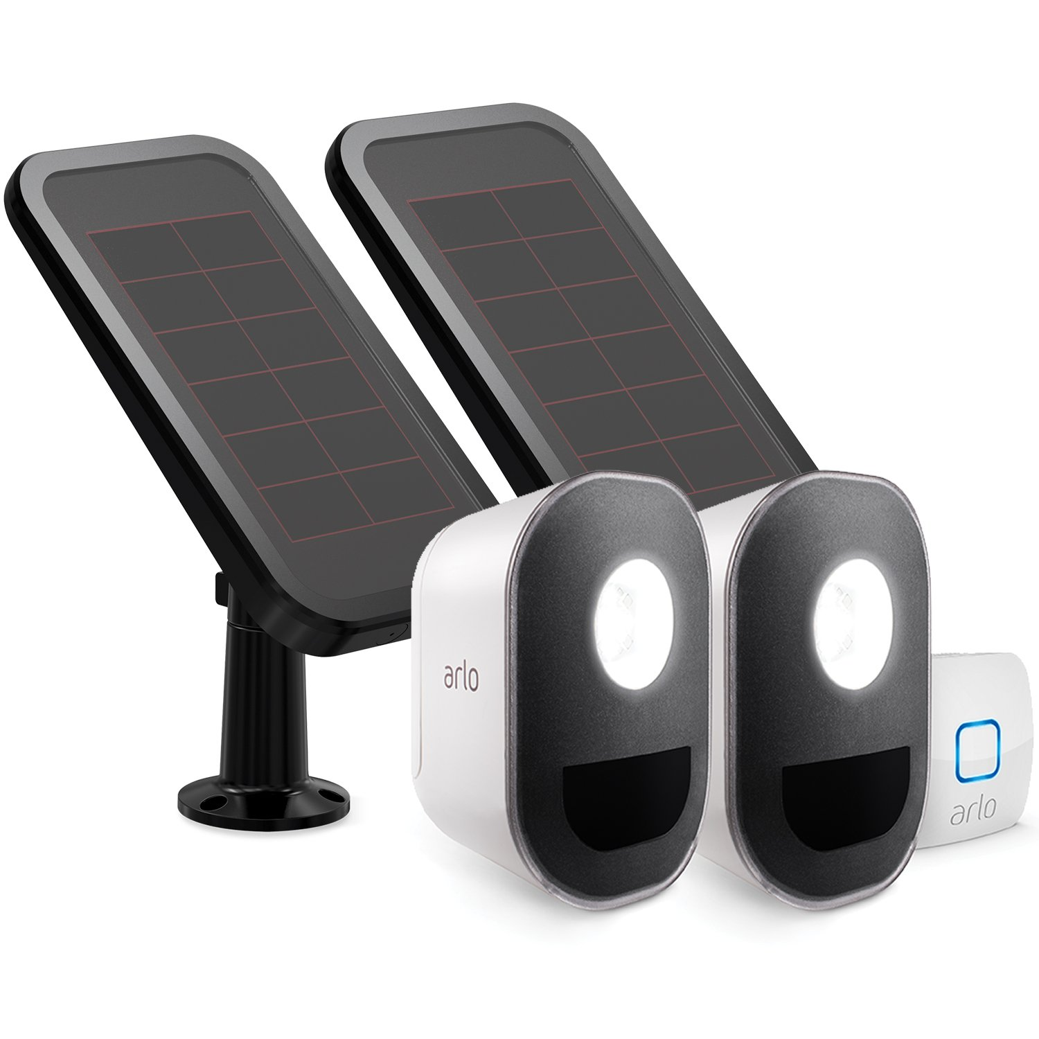 Arlo - Smart Home Security Light with Solar Panels. Wireless, Weather Resistant, Motion Sensor, Indoor/Outdoor, Multi-colored LED, Works with Amazon Alexa   2 Light Kit, camera not included (ALS1102)