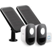 Arlo - Smart Home Security Light with Solar Panels. Wireless, Weather Resistant, Motion Sensor, Indoor/Outdoor, Multi-colored LED, Works with Amazon Alexa | 2 Light Kit, camera not included (ALS1102)