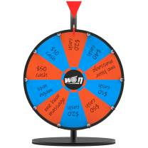 KOOV 12 Inches Spinning Wheel for Prizes - Mini Tabletop Spinning Wheel 10 Slots with Dry Erase Markers and Eraserfor Kids Carnival Classroom and Family Party Event