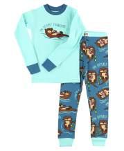 Lazy One Warm Long-Sleeve PJ Sets for Girls and Boys, Funny Animal Kids' Pajama Sets, Cozy, Comfy